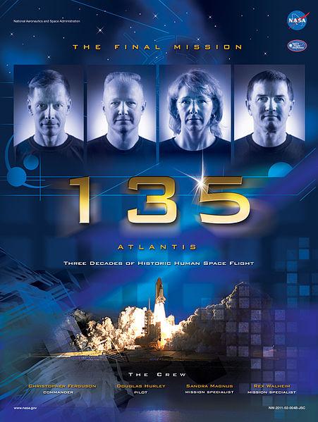 Star Trek Type Poster of STS 135 Crew